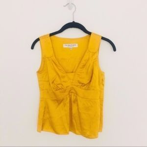 Trina Turk SZ S silk gold blouse